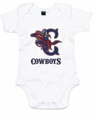 Cowboys (Alt), Printed Baby Grow