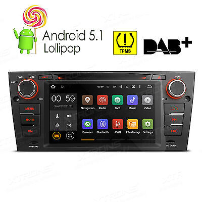 "XTRONS 7"" Android 5.1 Autoradio DVD GPS Navigation Bluetooth W für BMW E90-E93"