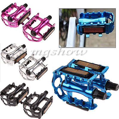 "1 Pair BMX MTB Aluminium Alloy Mountain Bike Cycling Bicycle 9/16"" Pedals Flat"