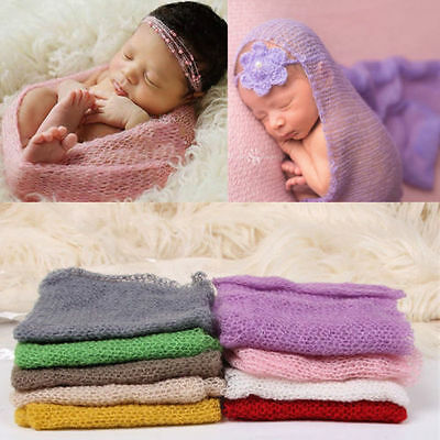 Newborn Baby Infant Soft Stretch Wrap Swaddle Cocoon Photo Prop Blanket Rug