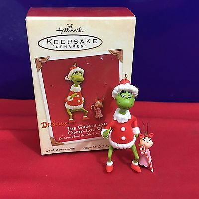 Hallmark Ornament The Grinch and Cindy Lou Who 2003