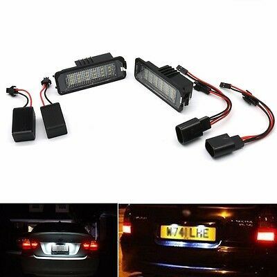 2x LED License Number Plate Light Canbus Lamp Replace For VW GOLF MK4 MK5 Seat