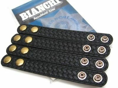 Bianchi AccuMold Elite 22187 Pack Of 4 Basketweave Belt Keepers With Brass Snaps