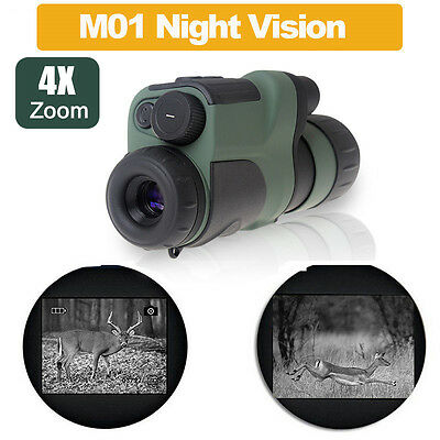 Infrared Digital Night Vision Monocular Scope Telescope+Free Bag/Battery/Charger