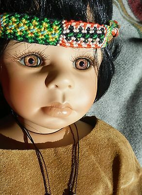 """""""Fawn"""" by renowned doll artist KAYE WIGGS 20"""" LTD Porcelain Native American Girl"""