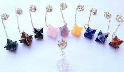 Beautiful Ten Unique Merkaba Star Pendulums Women Men Gift Reiki Crystal Healing