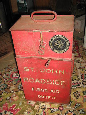 Vintage St John Roadside First Aid Outfit Case
