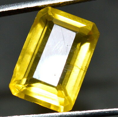 8.90 ct Natural Heliodor Yellow Color GGL CERTIFIED EMERALD SHAPE Loose Gemstone