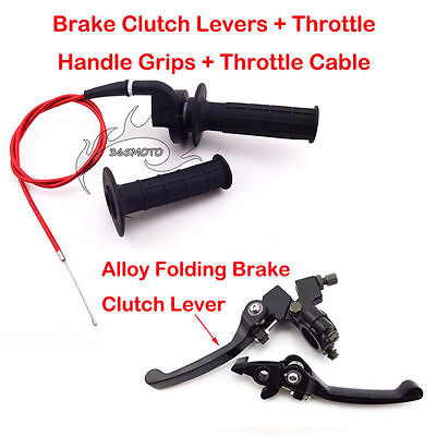 Throttle Brake Lever Cable For Chinese Dirt Pit Bike 125cc Honda CRF50 SSR Lifan