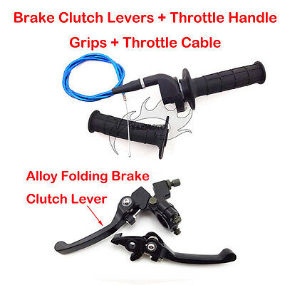 Throttle Grips Cable Brake Lever For 90cc 110 125 150 cc SSR CRF50 Dirt Pit Bike