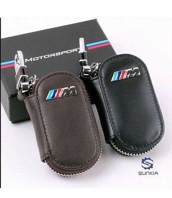 M3  Leather Key Cover Case Holder Ring Chain Fob !