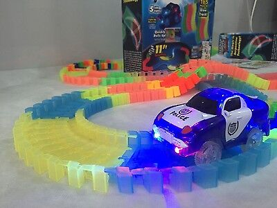Magic Tracks The Amazing Racetrack that Can Bend Flex & Glow 11Ft  With Gift Box