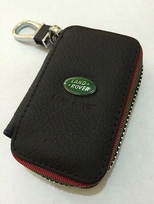 Land Rover Leather Key Cover Case Holder Ring Chain Fob !