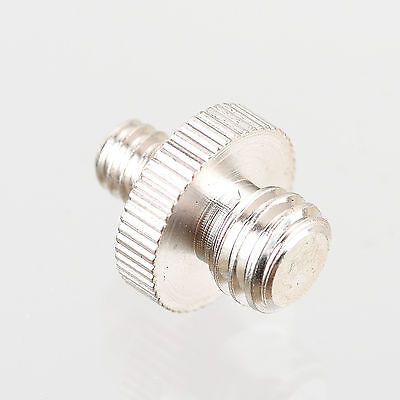 """1/4"""" Male to 3/8"""" Male Threaded Screw Adapter For Flash Mount Holder Bracket"""