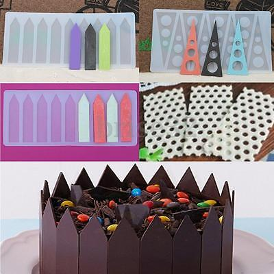 New 1pcs Silicone Fondant Cake Mould Chocolate Fence Picks Candy Mold