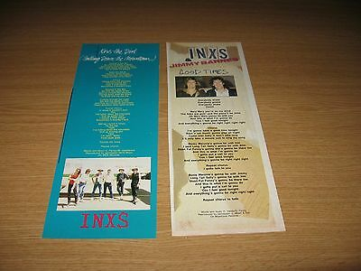 INXS - MICHAEL HUTCHENCE - Magazine Clippings - KISS THE DIRT SONGWORDS