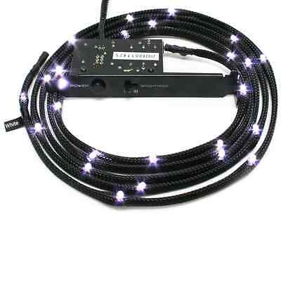 NZXT White Sleeved LED Kit with PCI Light 1M