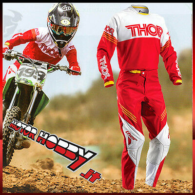 Completo Cross Bambino Thor Phase Youth Hyperion Red White Bimbo Taglia L - 26