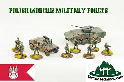 POLISH MODERN MILITARY FORCES Set - 10 pieces 15 mm 1:100 scale - Terrains4Games
