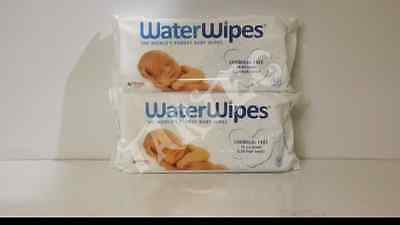 WaterWipes Sensitive Baby Wipes, Natural and Chemical-Free,2 x 60 ( 120 Wipes)