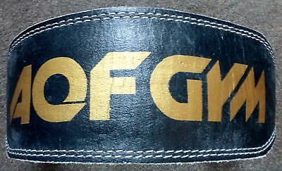"""AQF Weight Lifting 4"""" Leather Belt Back Support Strap Gym Training Fitness (BXR)"""