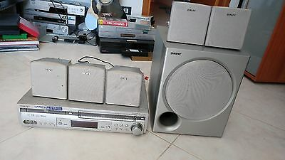 Sony Videoregistratore Vhs Combo Home Theater 5.1 Woofer + 15 Dvd In Omaggio
