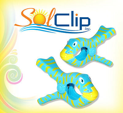 Beach towel clips - 2 new bulk sets of Fish from SolClip, Canada