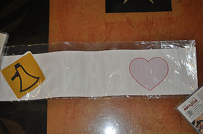 *RARE* BRAND NEW I HEART Hanson window decal and stickers!