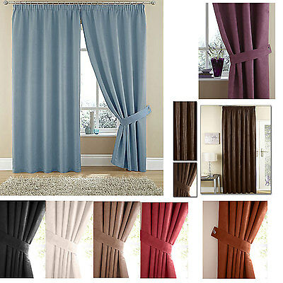 Suzy luxury FAUX SUEDE pencil pleat LINED curtains, scarfs, cushions, tie backs