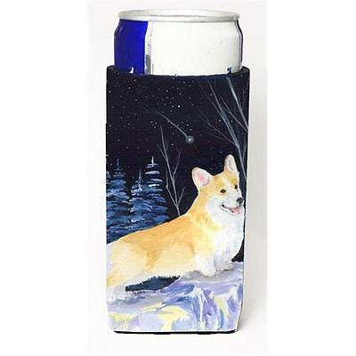 Starry Night Corgi Michelob Ultra bottle sleeves For Slim Cans 12 oz.