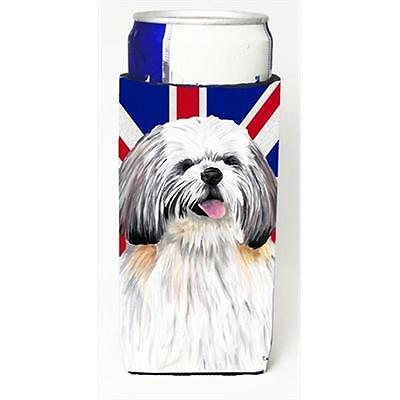 Shih Tzu With English Union Jack British Flag Michelob Ultra bottle sleeves F...
