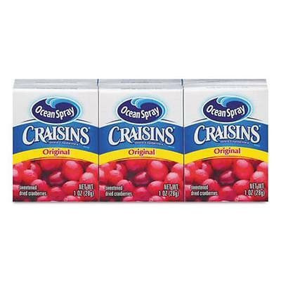 Ocean Spray Cranberries 29516 Craisins Original Cranberry Box, 1 oz.