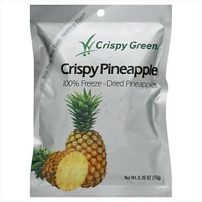 Crispy Green Fruit Snacks 0.36 Ounce Freeze Dried Crispy Pineapple -Pack of 12