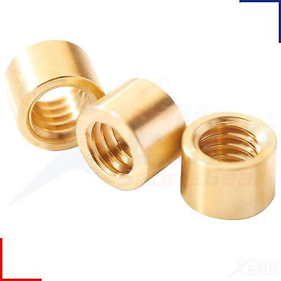 Peradon Snooker Pool Cue Brass Ferrules For Stick on Tips 6.5, 7, 8 - 12mm