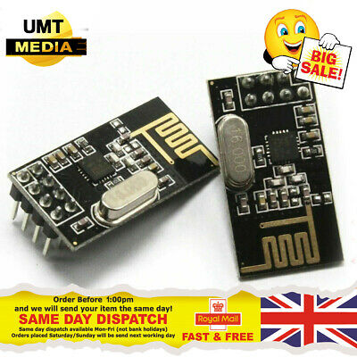 1/2/3/5/10 Arduino NRF24L01+ 2.4GHz Wireless RF Transceiver Module UK Seller