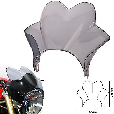Puig Windscreen for Yamaha XJR1300 2002 Wave Fly Screen Light Tint