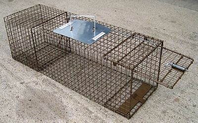 2 Cage traps live traps for cats raccoon opossums small dog skunk  152&153,036c