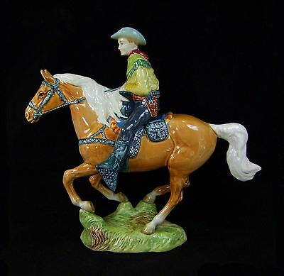 Beswick - Canadian Mounted Cowboy Figure - 1377 - Made in England.