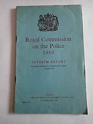 Royal Commisiion on the Police 1960 - Interim Report (Cmnd. 1222)