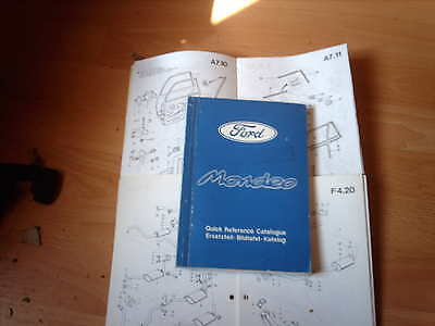 Ford Parts Catalogue Mondeo 4 door 5 door and estate