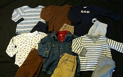 Baby Boy Size 18 months Mixed Fall & Winter Clothing Lot