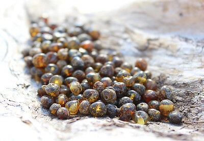 50 pcs Baltic amber beads with hole