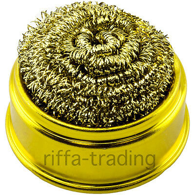 Soldering Tip Cleaning Ball, Base, Brass Wire Wool Iron Cleaner, Refill Sponge