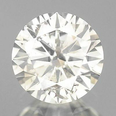 0.38cts 4.6mm Rare Round Fancy White I Color Natural Loose Diamonds