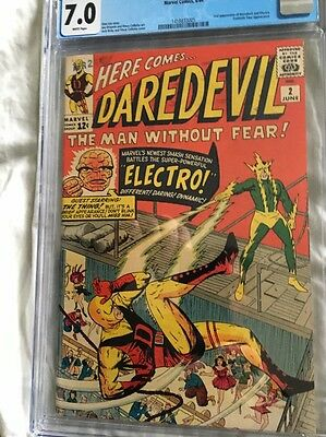 Daredevil #2 Cgc 7.0 White Pages