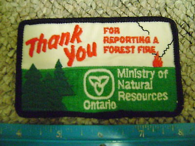 ONTARIO MNR FOREST FIRE MANAGEMENT PATCH conservation mnr,fireman,forests,trees