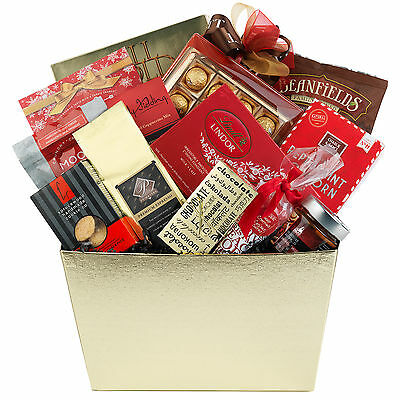 Christmas Holiday Gourmet Gift Basket With Truffles Antipasto Cheese Shortbread