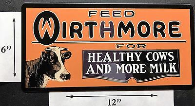 Wirthmore Feeds Ag Farm Barn Old Sign Remake Refrigerator Toolbox Magnet 6 X 12