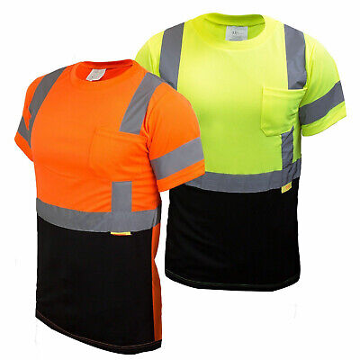 Hi Vis T Shirt Class 3  Work Safety Short Sleeve High Visibility -BFS8511/12