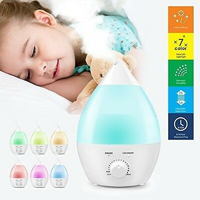 Ogima® 1.3 L Ultrasonic Cool Mist Humidifier Aromatherapy Aroma Diffuser Quiet